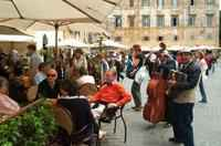 Trastevere area where is located the b&b  is full of characteristic restaurants bars shops